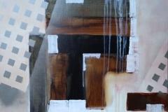 Bild Nr. 58, Acrylbild 50×50, Leinwand auf Keilrahmen, gemalt und gespachtelt, Silberlack aufgetragen, original handgefertigt (2019), Unikat