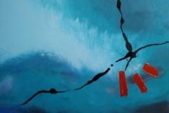 Bild Nr.145, Acrylbild 60 x 80, Leinwand auf Keilrahmen, direktes Mischen der Farben auf der Leinwand, gemalt und gespachtelt, feinste Künstlerfarbe, dieses Bild wurde mit einem Firnis versehen, original handgefertigt (2021), Unikat