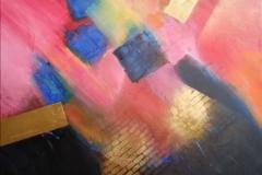 Bild Nr. 64, Acrylbild 50x50, Leinwand auf Keilrahmen, gemalt und gespachtelt, feinste Künstlerfarbe, Goldspray von RicoDesign ,handgefertigtes original ( 2019 ), Unikat