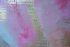 Bild Nr. 72, Acrylbild 50 x 50, Leinwand auf Keilrahmen, gemalt und gespachtelt, feinste Künstlerfarbe, mit Silberspray versehen, original handgefertigt ( 2019 ), Unikat