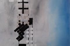 Acrylbild mit Sand Nr. 99