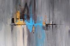 Acrylbild 50x40, Leinwand auf Keilrahmen, gespachtelt und gemalt, feine Künstlerfarbe, feinste Goldfarbe, original handgefertigt ( 2018 ), Unikat